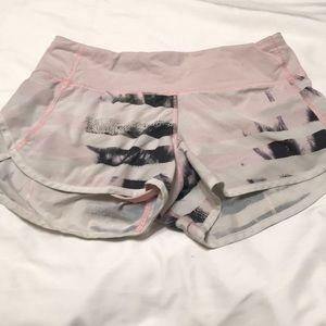 Gently used multi-color lululemon shorts